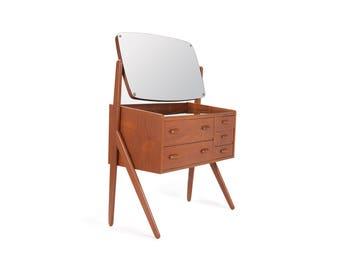 Danish Modern Teak V-Legged Vanity ca 1950