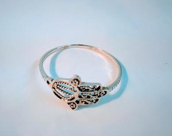 Silver Hamsa Ring