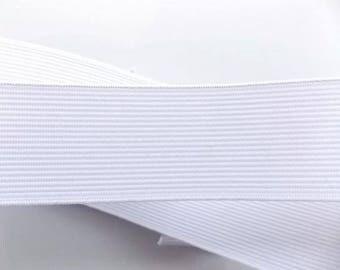 Spool of 25 m 50mm white elastic