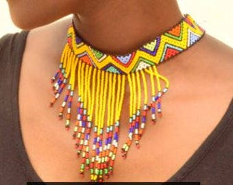 Necklace African beads