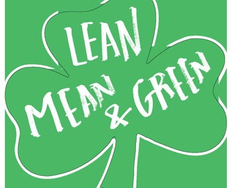 Lean Mean & Green Temporary Race Tattoo