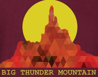 Big Thunder Mountain Low Poly Silhouette Tee