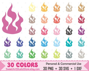 Fire Clipart, Fire planner SVG Silhouette Cricut Cut File Commercial Use (Png Svg Dxf)