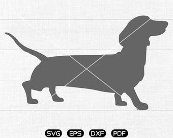 Dachshund Svg, God Clipart, cricut, cameo, silhouette cut files commercial & personal use