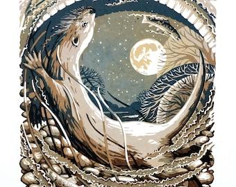 Otter Moon 12/20 (Sienna/Grey)