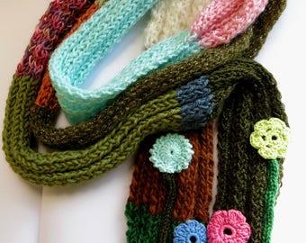 Side scarf retro hippie chic