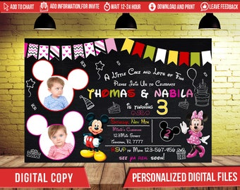 Minnie Mouse Mickey Birthday Invitation,Minnie Mouse Invitation,Minnie Invitation,Minnie Mouse Birthday,Minnie Mouse invite,Minnie Party,FD