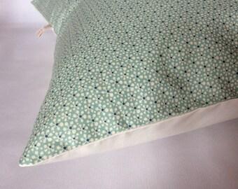 Geometric Cushion cover 'flowers' celadon