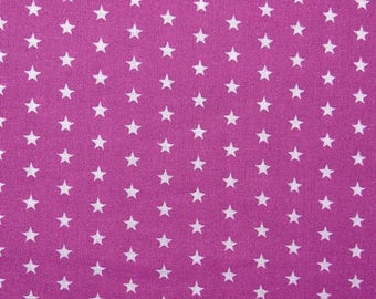 Star fabric - pink ruffles