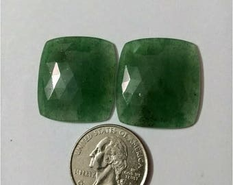 Jade green Rose cut slice Pair/Octagon rose cut slice pair /Cabochon Slice/Natural jade green/Cabochon rose cut/Earring slice pair/loose gem