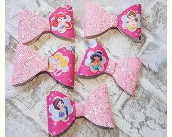 Princess Hair Bow - Belle Bow, Aerial Bow, Aurora Bow, Jasmine Bow, Snow White Bow, Princess Bow, Girl Hair Bow, Toddler Bow, Baby Bow