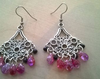 Handmade earrings with drops
