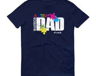 Autism Warrior Dad T-shirt