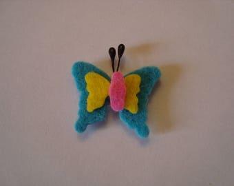 1 blue butterfly felt