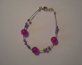 Bracelet pink and purple