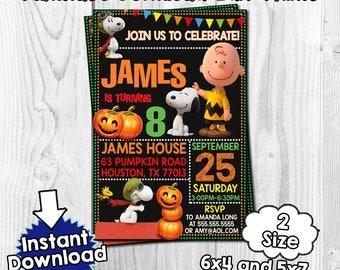 Snoopy Peanuts invitation, Snoopy Peanuts Birthday, Snoopy PeanutsPDF, Snoopy Peanuts editable, Snoopy Peanuts download, Snoopy halloween