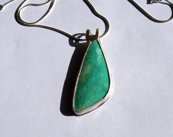 Turquoise in Silver Pendant