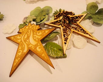 lot star 1917 embellishment wooden creations