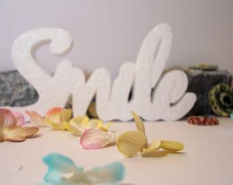 Smile F00030 polystyrene day, wedding, home decor, ceremony on measures