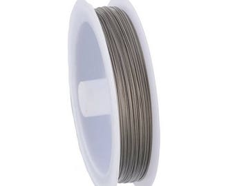 x 70 meters of silver stainless steel wire in spool of 0.35 mm