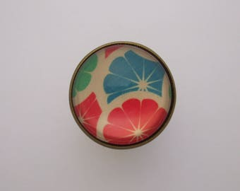 "Ring ""Citrus"" cabochon gem fruit grapefruit orange green blue red white"