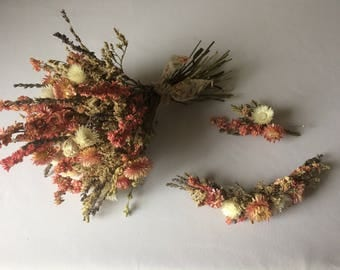 Dried flower wedding bundle
