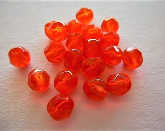 Crystal beads Bohemian faceted 6 mm diameter in a set of 20 jewelry creations