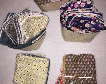 washable wipes with Japanese fabric basket
