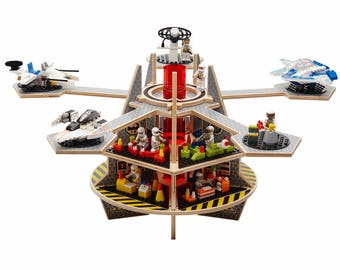 Base Ace 3D Play Platform for Mini Figures, Kit 3 Special Edition with Expansion Pack - Gift