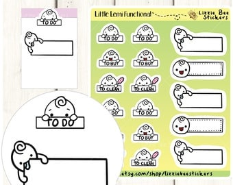 Little Lemi Functional - Cute Kawaii Functional Planner Stickers