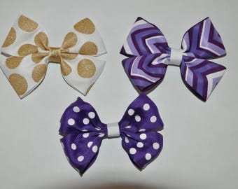 Girls Hair Bows - Set of 3