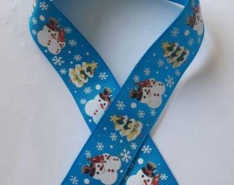 288 - Ribbon Christmas - grosgrain - 22 mm sold by 50 CM - Christmas ribbon.