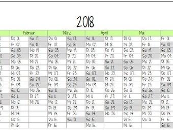 "Annual Calendar ""Sugar Snow"" personal Filofax/Kikki K"