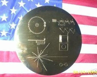 NASA VOYAGER 1 & 2 spacecraft golden record cover