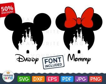 Disney Birthday Svg Mickey Mouse Svg Minnie Bow Clip art Disneyland Baby Kid Toddler Girl T-shirt Onessie Vinyl Files for Cricut Silhouette