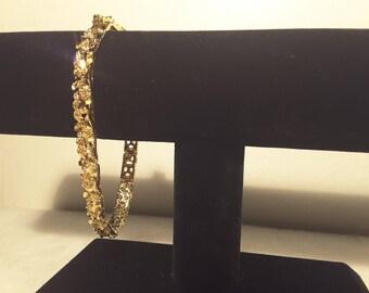 Golden Nugget Textured Bracelet