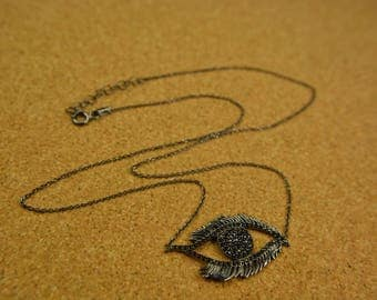 Handmade silver 925 necklace eye