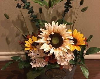 Fall Floral Arrangement Home Decor Fall Colors