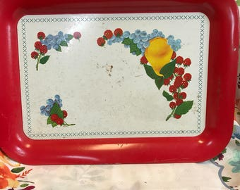 Tin serving tray
