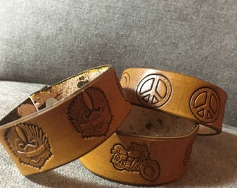 Old School Leather Bracelets