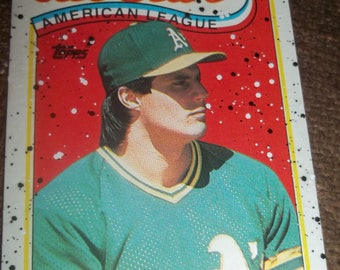 1989 Topps Jose Canseco All Star Spots Card