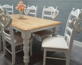 Bespoke Shabby Chic 6ft table set