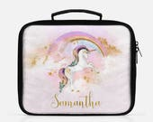 Personalized Unicorn Lunch Box Unicorn Lunch Bag Unicorn Lunch Tote Back To School Rainbow Unicorn Personalized Lunch Tote Girls Lunch Box