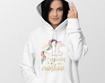 Unicorn Hoodie, Unicorn, Hoodie, Rainbow, Unicorn Sweater, Unicorn Sweatshirt, Unicorn Shirt, Sweatshirt, Pink, Unicorn Gift, Funny Hoodie