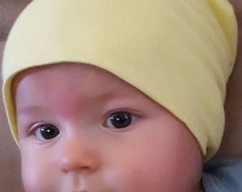 Yellow Baby Slouchy Beanie