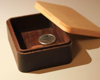 Small Ipe and Bamboo Stash Box