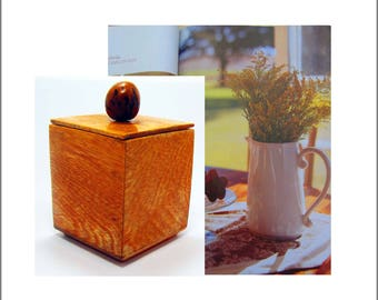 Handcrafted, brazilian, wood, box, Desktop decoration,Contemporary, natural material only, Exquisite