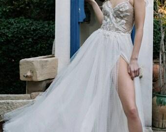 Sexy bride dress, boho