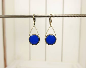 Blue drop earrings