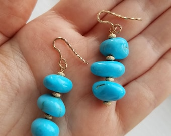Turquoise earrings in 14K Gold Filled